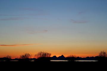 Dünen im Sonnenuntergang, Norwegen