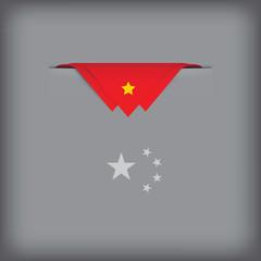 Abstract image China flag