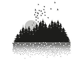 Mond,Wald und See
