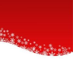 Schneesterne auf rotem Hintergrund