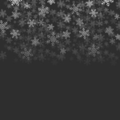 Snow falling from the top of the image, place for text