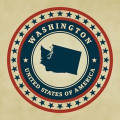 Vintage label Washington