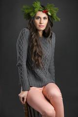 Cristmas fashion girl