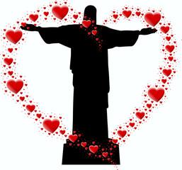 pomnik w Brazylii i serce z serc