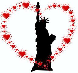 statuła wolności i serce z serc