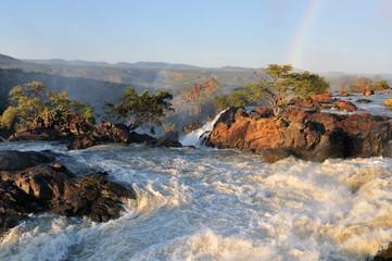 Sunset at the Ruacana waterfall, Namibia