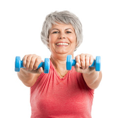 Fiitness old woman