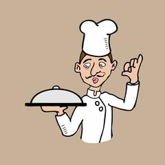 Mustache chef