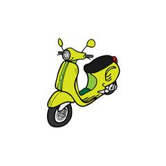 Scooter vintage retro design cartoon