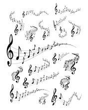 Musical staves