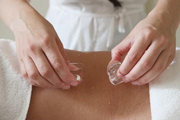 Professional spa hot and cold procedure