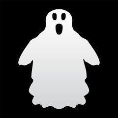 ghost on a white background