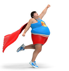 obese superhero
