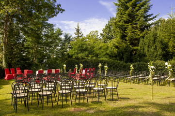 outdoor wedding in the castle