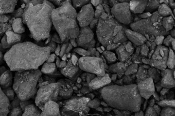 Close-up of black coal