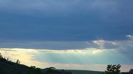 Cloudscape, timelapse