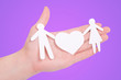 paper family in hands