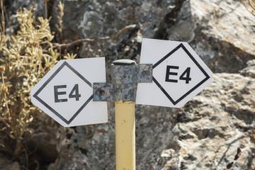 Europäischer Fernwanderweg E6 auf Vrissinas (Rethymnon), Kreta