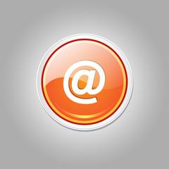 AT Circular Vector Orange Web Icon Button