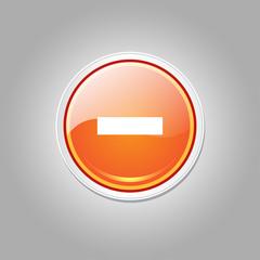 Minus Circular Vector Orange Web Icon Button
