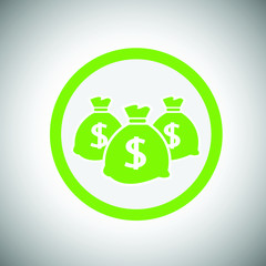 Money icon with three bags