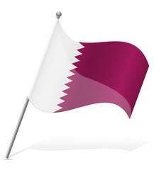 flag of Qatar vector illustration