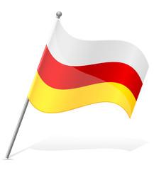 flag of South Ossetia vector illustration