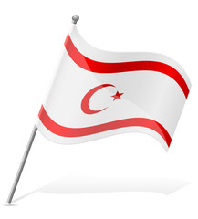 flag Turkish Republic of Northern Cyprus vector illustration