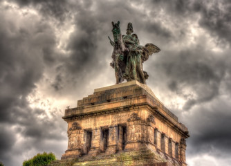 Statue of William I in Koblenz, Germany