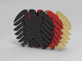 Bundesadler Schwarz Rot Gold