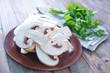raw mushroom