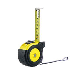 Yellow tape measure isolated