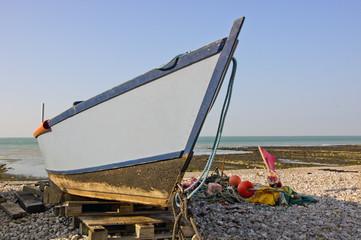 Fischerboot in Yport in Frankreich