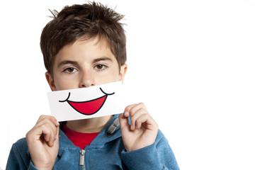 bambino confinto sorriso