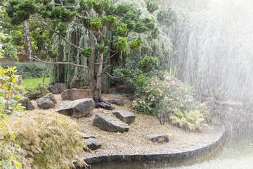 Jardin japonais et fontaine