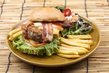 hamburger beef bacon
