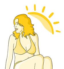 Girl sun