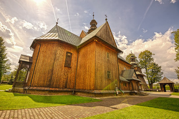 Wooden Parish Church of the Immaculate Conception in Spytkowice,