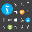 ������, ������: Hairdressing equipment icons