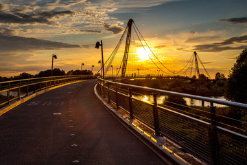 Herrenkrugparkbrücke Sommer 2014