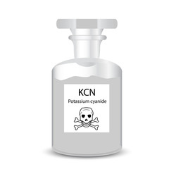 Chemical container with toxic granular potassium cyanide