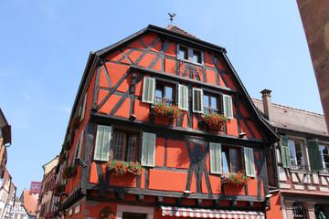 Maisons à colombages en Alsace (France)