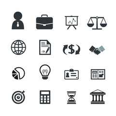 Business finance icons.line theme.