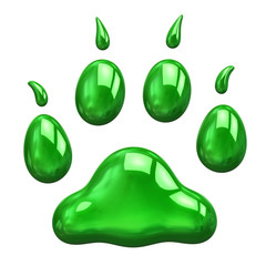 Green paw