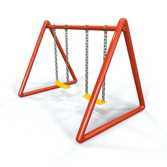 Orange swing isolated on white background