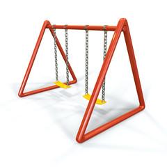Orange swing isolated on white background