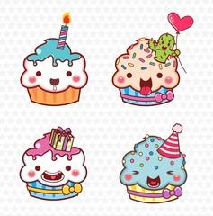 cupcake cartoon, kit festa 06