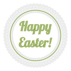 Stickerei Happy Easter grün