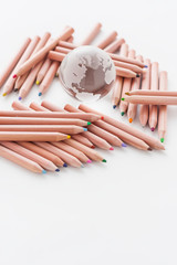 地球 色鉛筆