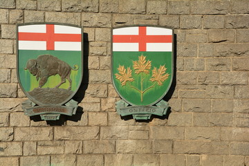 Coat of Arms for the Canadian provinces of  Ontario and Manitoba